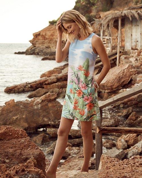 Paradisio Sunrise Silk Shift Dress