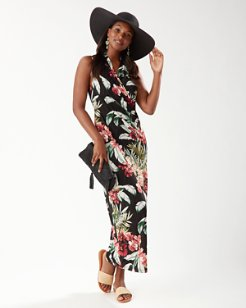 Oceanic Orchid Sleeveless Maxi Dress