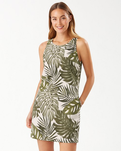 Safari Bliss Sleeveless Silk Shift Dress