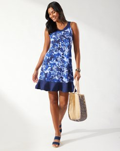 Fresco Floral Short Dress
