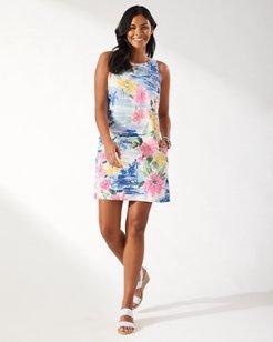 Waikiki Waves Silk Shift Dress