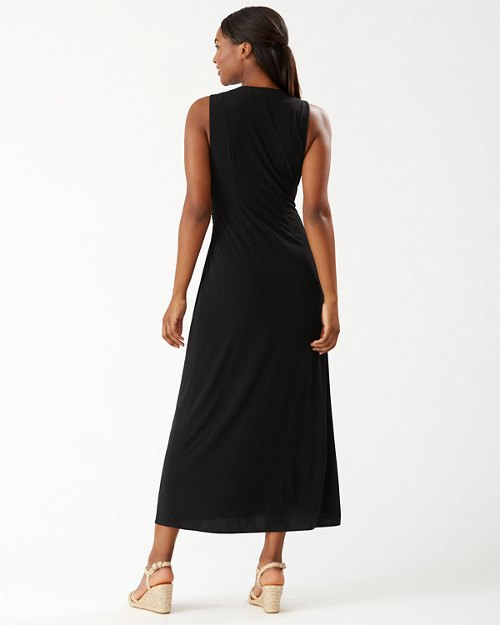 Clara Faux Wrap Sleeveless Maxi Dress