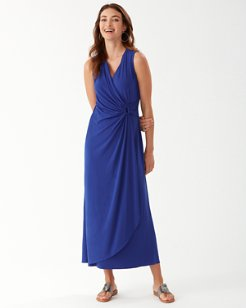 Clara Faux Wrap Sleeveless Maxi Dress