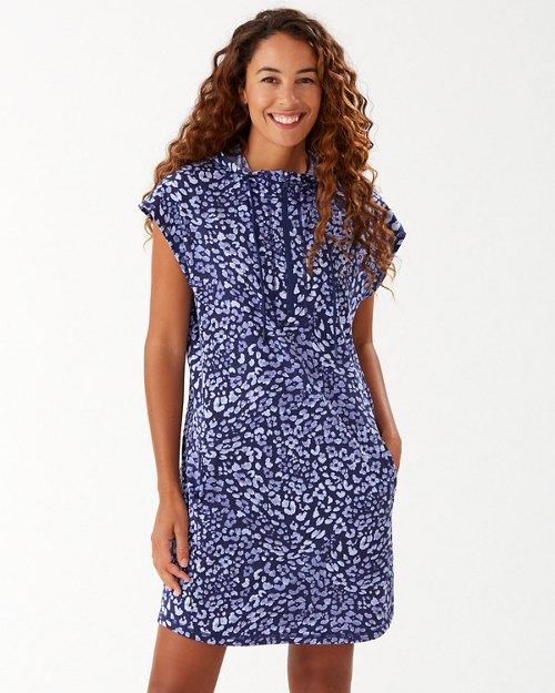 Ariana Leopard IslandZone® Hooded Dress