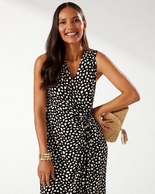 Clara Darling Dots Faux-Wrap Maxi Dress