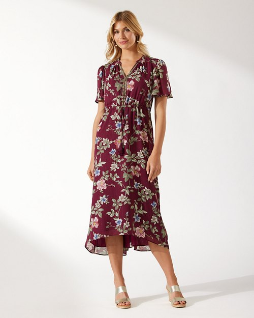 Painted Petals Midi Dress