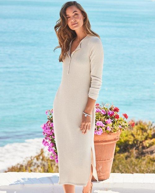 Sea Cove Island Soft® Ribbed Midi Dress