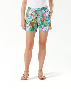 Valley Of Flowers Linen 5-Inch Shorts
