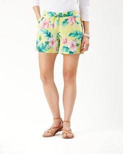 Floristic Approach Linen 5-Inch Shorts