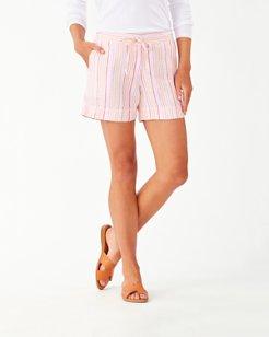 Vitamin Sea Stripe 5-Inch Linen Shorts
