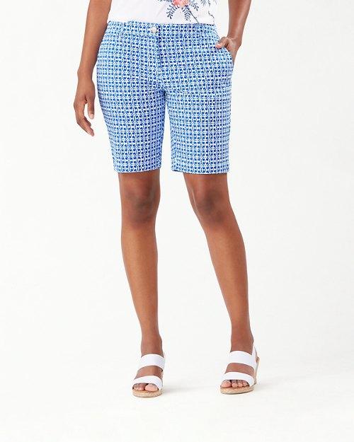 Boracay Tiki Tiles 10-Inch Bermuda Shorts