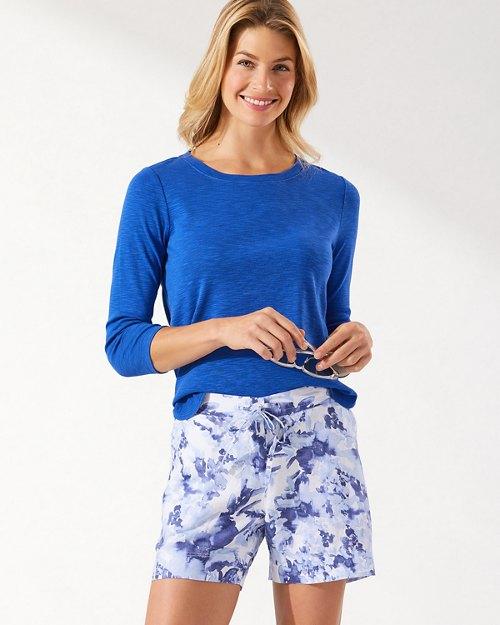 Fresco Floral 5-Inch Linen Shorts