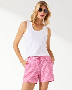 Gingham Way Linen 5-Inch Shorts