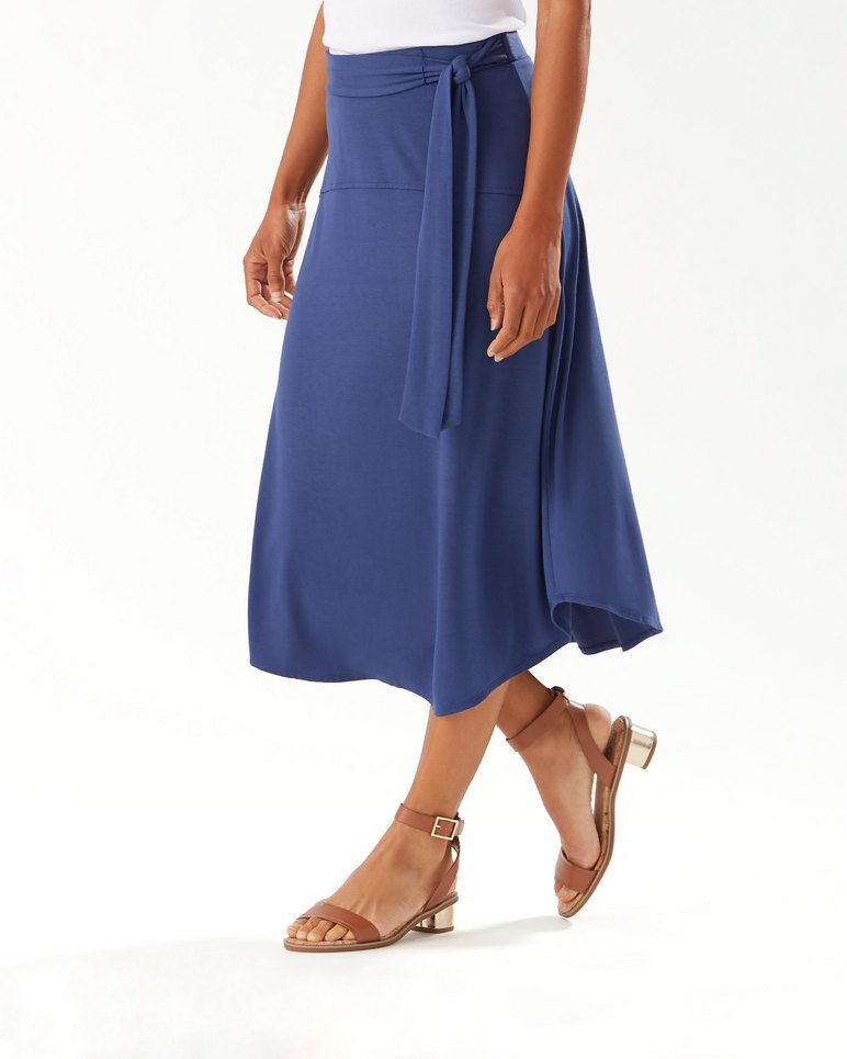 Main Image for Solid Tambour Midi Skirt