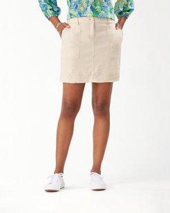 Palm-A-Dora Stretch-Linen Short Skirt