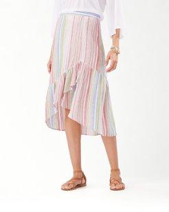Vista Sol Stripe Midi Skirt