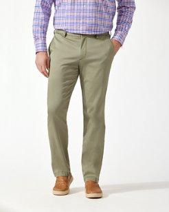 Boracay Flat-Front Chino Pants