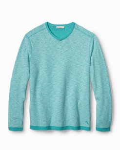 Sea Glass Reversible V-Neck Sweatshirt