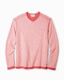 Sea Glass Reversible V-Neck Sweatshirt