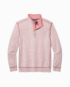 Ocean Mist Snap-Mock Sweatshirt