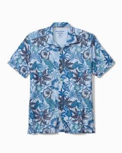 Fuego Floral IslandZone® Knit Camp Shirt