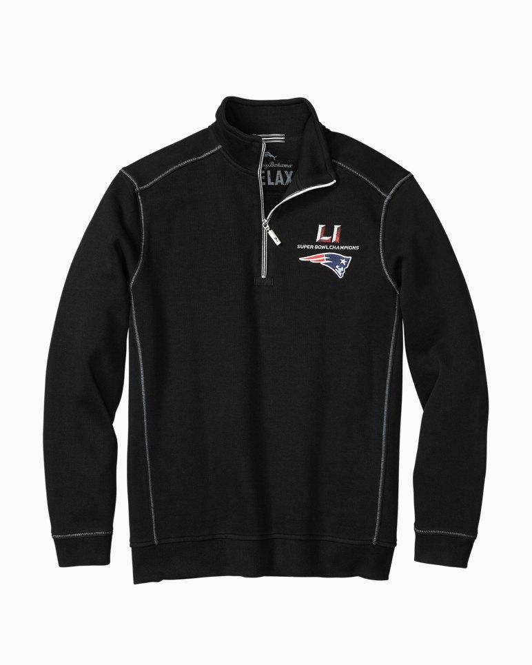 Tommy Bahama Big & Tall Mens Big & Tall New Flip Side Pro Reversible Half Zip Sweatshirts Dark Cobal