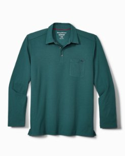 Tropicool Sueded Sands IslandZone® Long-Sleeve Polo