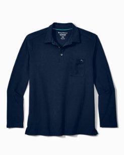 Tropicool Sueded Sands IslandZone® Long-Sleeve Polo