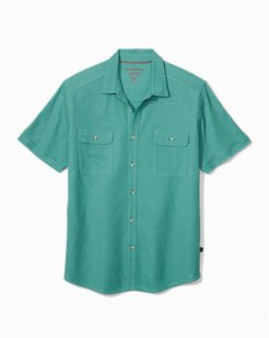 Tropicool Seas Button IslandZone® Knit Camp Shirt