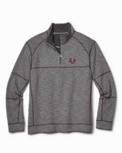 Collegiate Sandbar Slub Reversible Half-Zip Sweater