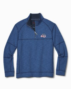 Collegiate Sandbar Slub Reversible Half-Zip Sweater