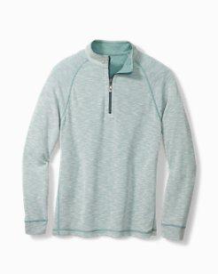 Barrier Beach Reversible Half-Zip Sweatshirt