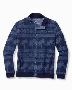 Indigo Isles Cotton-Stretch Shirt Jacket