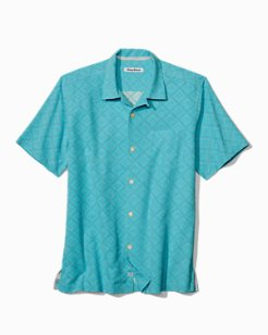 Solid Isle Diamond Jacquard Camp Shirt