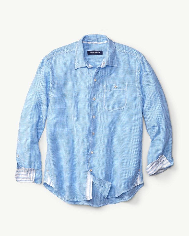 Sand Check Linen Blend Shirt