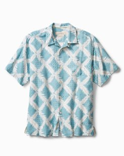 Standard Fit Diamond Getaway IslandZone® Camp Shirt