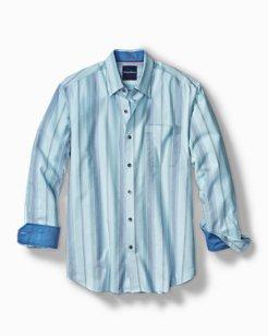 Sail Over Stripe Stretch Shirt