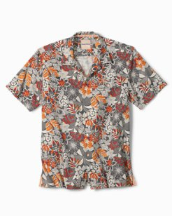 Standard Fit Subtropical Palm IslandZone® Camp Shirt