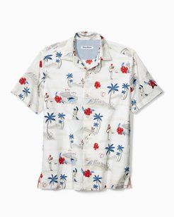 MLB® Load The Palms Stretch-Cotton Camp Shirt