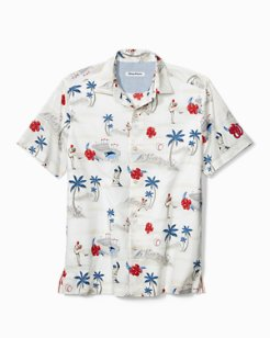 MLB® Load The Palms Stretch-Cotton Camp Shirt