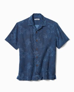 Micro Line Floral Camp Shirt
