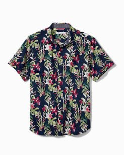 San Matera Gardens Stretch-Cotton Camp Shirt