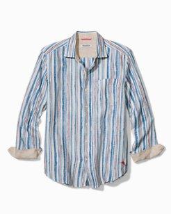 Watercrest Stripe Linen Shirt