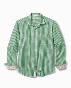 Sand Linen Plaid Shirt