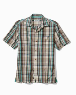 Royal Palm Plaid IslandZone® Camp Shirt