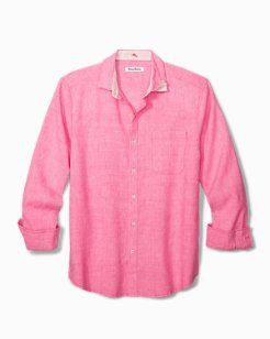 Lanai Tides Stretch-Linen Shirt
