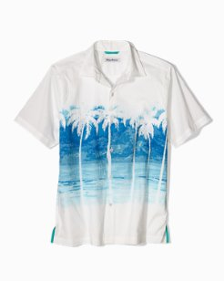 Palmera Vista Stretch-Cotton Camp Shirt