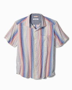 La Prisma Stripe Stretch-Cotton Camp Shirt