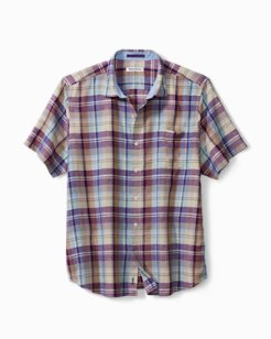 La Plaz Plaid IslandZone® Camp Shirt