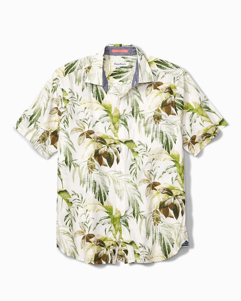 Main Image for Don't Leaf Me Now Stretch-Cotton Camp Shirt